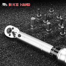 Bike Hand Bicycle Tools 1-25 NM Bike Ratchet Torque Wrench Kit Multifunction Bicycle Repair Tools Hexagon Key Set Cycling Tools bikehand bicycle repair tools kit bike torque wrench allen key tool socket set road mtb bike tools 1 4 torque fix set 2 24 nm