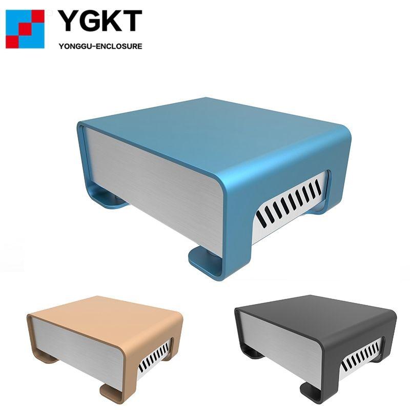 GOF-P01 133.4x55x109mm (WxH-D) Aluminum Extrusion Diy Extrued Box Electronic Projects Enclosure PCB Case