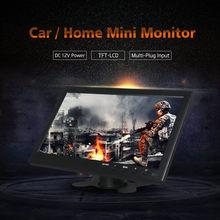 10 Inch TFT LCD Multi Plug Monitor HDMI VGA BNC RCA USB 1024x768 HD for Car Tuck PC Computer Home CCTV Security  Parking Camera