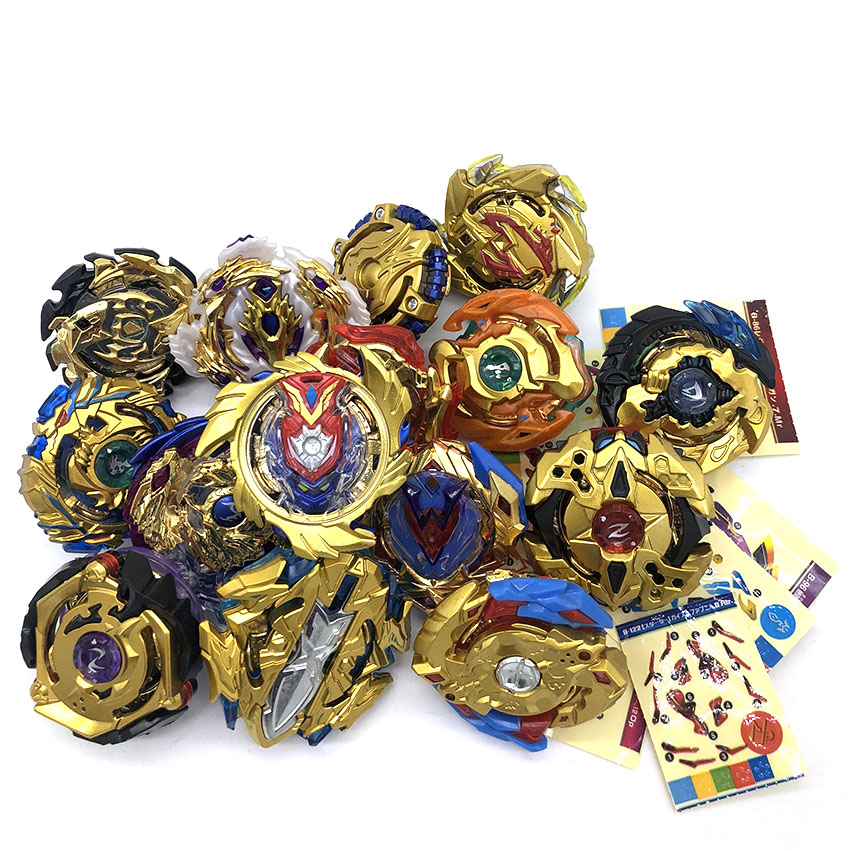 New Funny Joy Gold B-110 Beyblade Burst Starter Bey Blades Metal Fusion Bayblade With Launcher High Performance Battling Top