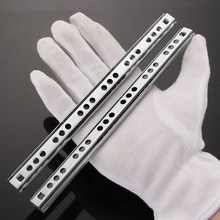 17mm de large tiroir armoire coureur Guides en acier rainure à billes tiroir en acier diapositives Rails bricolage 1 paire Micro Guide portant en acier