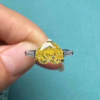 Heart Shape Simulated Diamond Ring Jewelry Diamond Jewelry