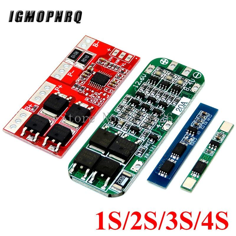 1 s 2 3 s 4S 3a 20a 30a li-ion bateria de lítio 18650 carregador pcb bms placa de proteção para o módulo de célula lipo do motor de broca