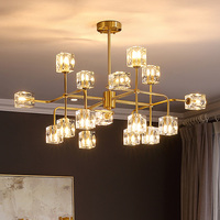 Crystal Luxury Chandelier Lighting For Dining Living Room Lobby Home Deco Hanging Lamp Nordic Multiple Heads Gold Art Fixtures|Chandeliers| |  -