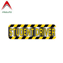 Aliauto Warning Car Sticker Student Driver Accessories Waterproof PVC Decal for Opel Astra J Kia Rio 3 Mustang Golf 7,16cm*5cm(China)