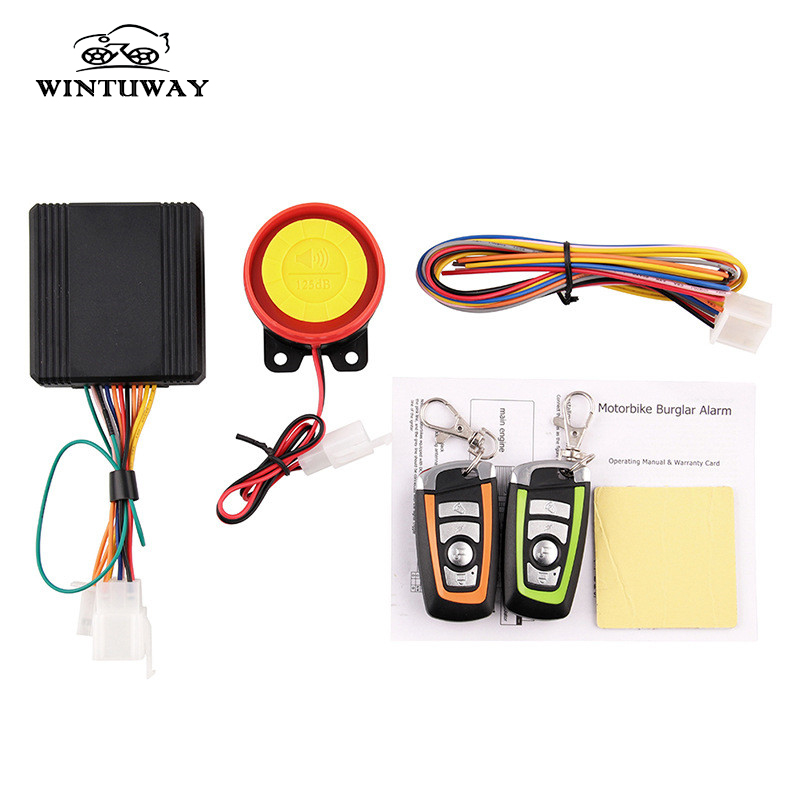 WINTUWAY Remote Control Alarm Motorcycle Security System Motorcycle Theft Protection Bike Moto Scooter Motor Alarm System