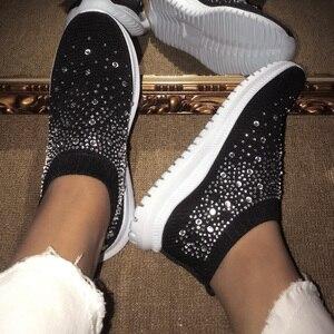 Image 3 - אישה נעלי סניקרס לנשים 2020 אופנה נשי נעלי גופר מזדמנים גבירותיי שטוח רשת מאמני Bambas Mujer סל Femme