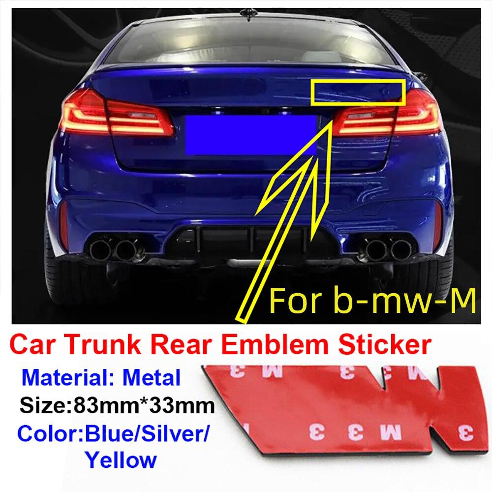 1 шт. сзади автомобиля эмблема для м Bwm для BMW M3 M5 M8 E30 E36 E39 E87 E60 E46 E90 E92 багажник автомобиля Средства для укладки волос Знак наклейки|Наклейки на автомобиль|   | АлиЭкспресс