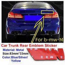 1 pçs emblema traseiro do carro para m bwm para bmw m3 m5 m8 e30 e36 e39 e87 e60 e46 e90 e92 tronco carro estilo acessórios emblema adesivos