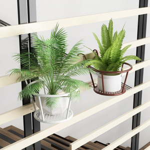 Image 3 - Nieuw Sterke Veelzijdige Lichtgewicht Geometrische Metalen Planten Stand Plant Plank Rack Voor Indoor