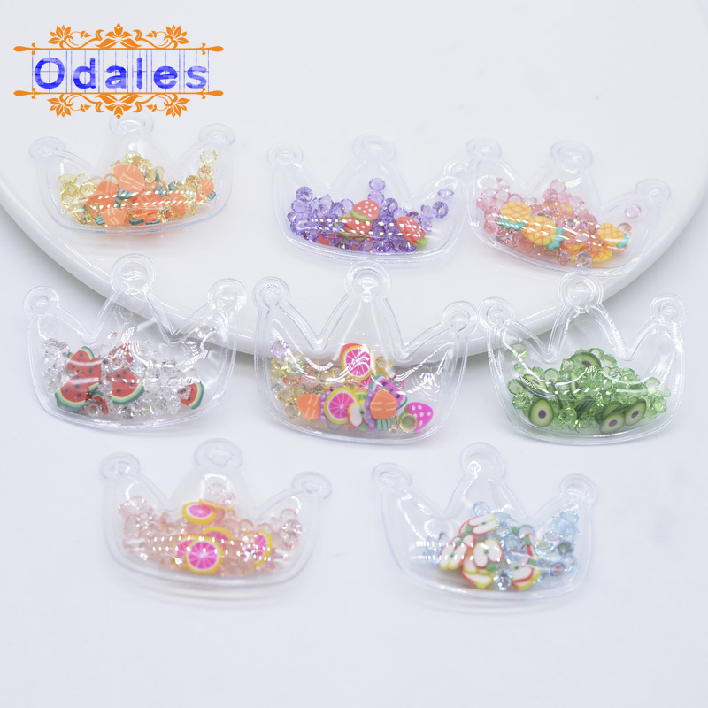 32 Teile/lose King & Queen Crown Appliques Sommer Wassermelone Obst Patches für Prinzessin Haar Clips Diamanten kinder Headwear