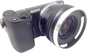 Image 5 - Metal Lens Hood for Sony A6600 A6500 A6400 A6300 A6100 A6000 A5100 A5000 NEX 6 NEX 5T NEX 5N NEX 3N NEX 5R with E 16 50mm lens