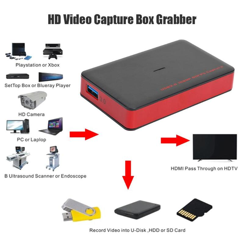 USB3.0 1080P 30fps Game Video Capture Card For PS2 PS3 PS4 XBOX ONE 360 Wii U Development Interface Compatibility DirectShow