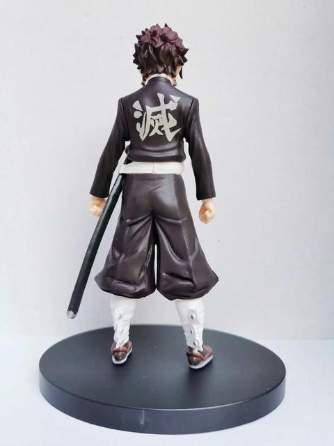 Kimetsu no Yaiba Figure Tanjirou Tomioka Giyuu Black Clothes PVC Model Toy Demon Slayer Action Figures Anime Brinquedos Toys