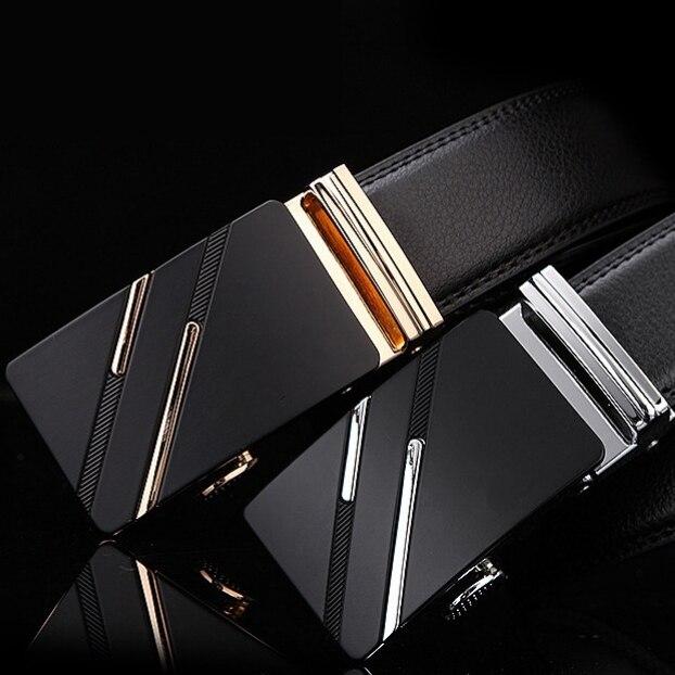 New Men Belt Male Genuine Leather Strap Belts For Men Top Quality Automatic Buckle Black Belts Cummerbunds Cinturon Hombre