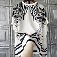 New 100% silk Blouses & Shirts single Wear a blockbuster 3000 sense of luxury printing silk shirts