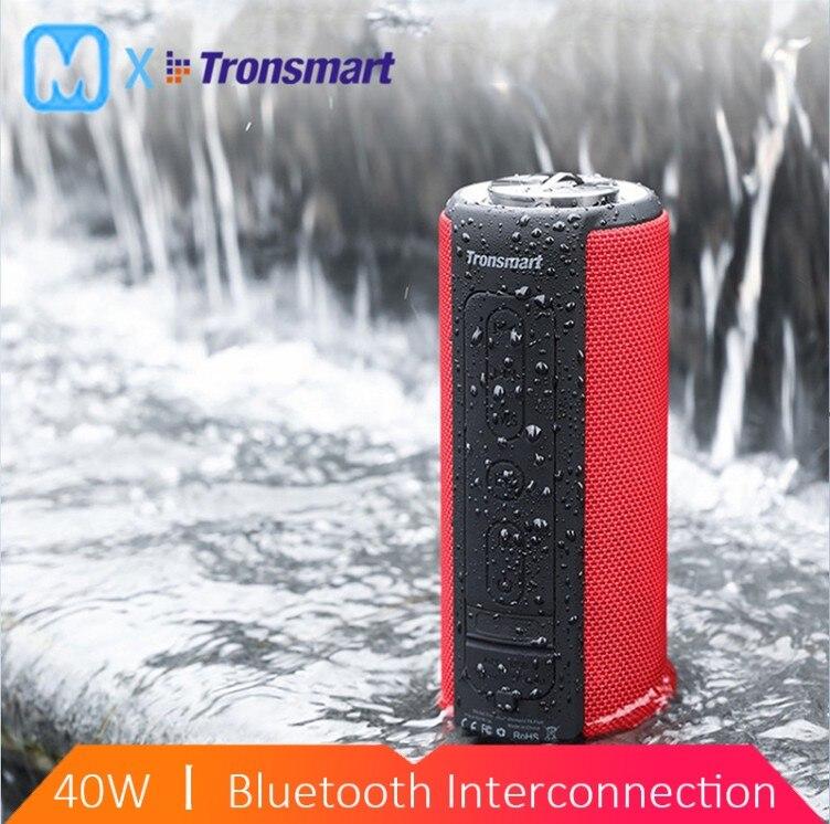 Tronsmart T6 Plus haut-parleur Bluetooth 40W haut-parleur Portable barre de son basse profonde avec IPX6 étanche, fonction de batterie externe SoundPul