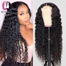 Mstoxic 13x6 perucas frontais do laço da parte dianteira do laço peruca frontal transparente 13x4 perucas do cabelo humano do laço para o fechamento 4x4 5x5 do laço das mulheres