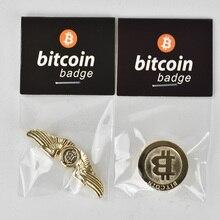 Chic Fashion design Bitcoin Coin Badge Metal Medallion Match fashion to improve elements
