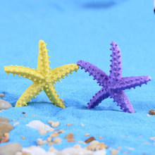 Yellow Starfish Sea Star Ocean Animal Australia Gift Model Small Statue Figurine Crafts Ornament Miniatures DIY Home Decoration(China)
