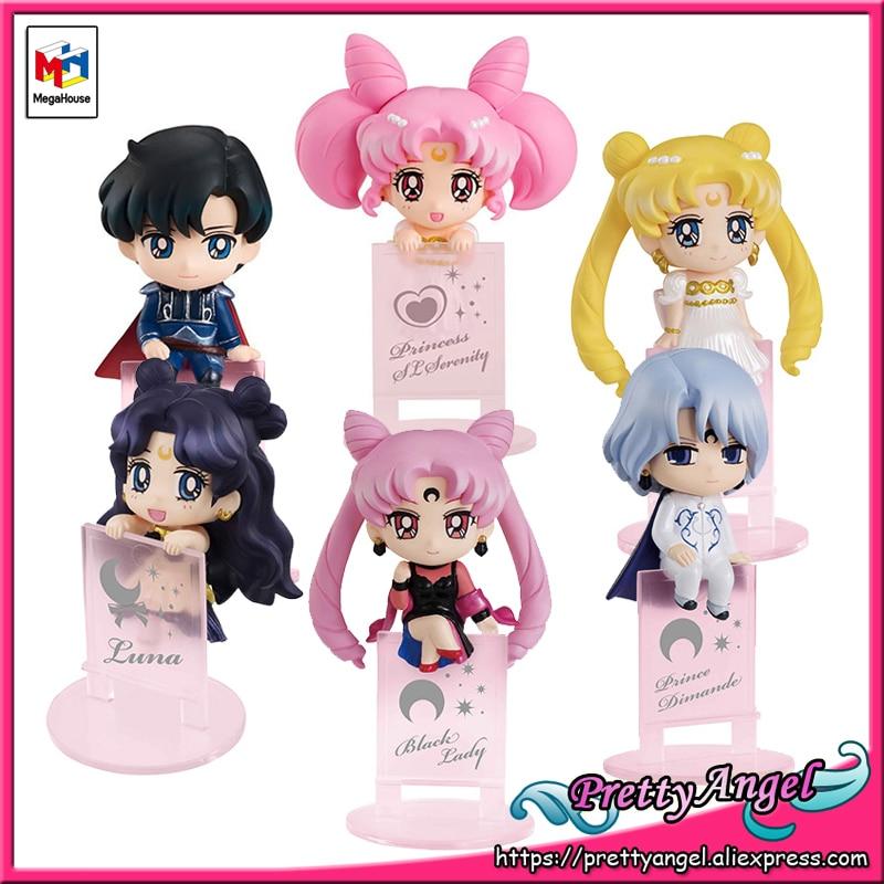 PrettyAngel - Genuine Megahouse Ochatomo Series Pretty Guardian Sailor Moon Night & Day Complete Figures Set of 6 PCS 1