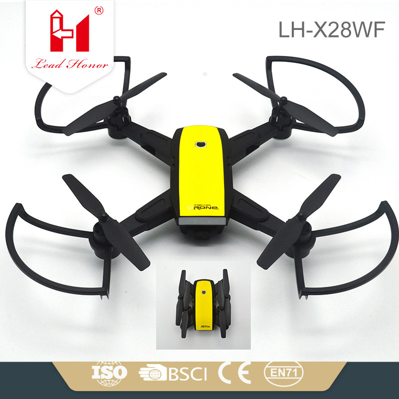 Lh-x28wf200 Folding WiFi High-definition 720P Aerial Photography Quadcopter FPV Real Time Transmission Remote Control Aircraft