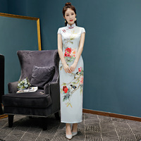 Traditional Daily Modern Cheongsam Chinese Dress Short Sleeve Wedding Qipao Chinoise Vestidos Size M 3XL