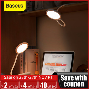 Baseus Flexible Hose Desk Lamp Foldable Dimmable Touch Table Lamps Universal 4000K Eye Protection Study Lamp LED Table Light