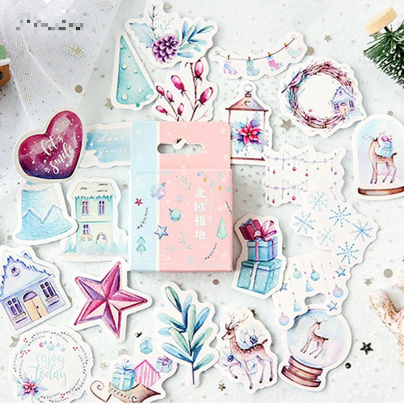 46 Pcs/lot Winter Scenery Paste Mini Paper Sticker Package DIY Diary Decoration Sticker Album Scrapbooking