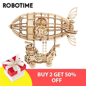 Image 5 - Robotime New Arrival DIY 3D Gramophone Box,Pumpkin Cart Wooden Puzzle Game Assembly Popular Toy Gift for Children Adult TG408