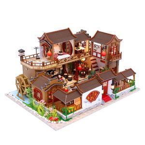 Детские игрушки Diy кукольный домик собирать деревянные миниатюрные кукольные домики мебель миниатюрный кукольный домик Головоломка Разви...