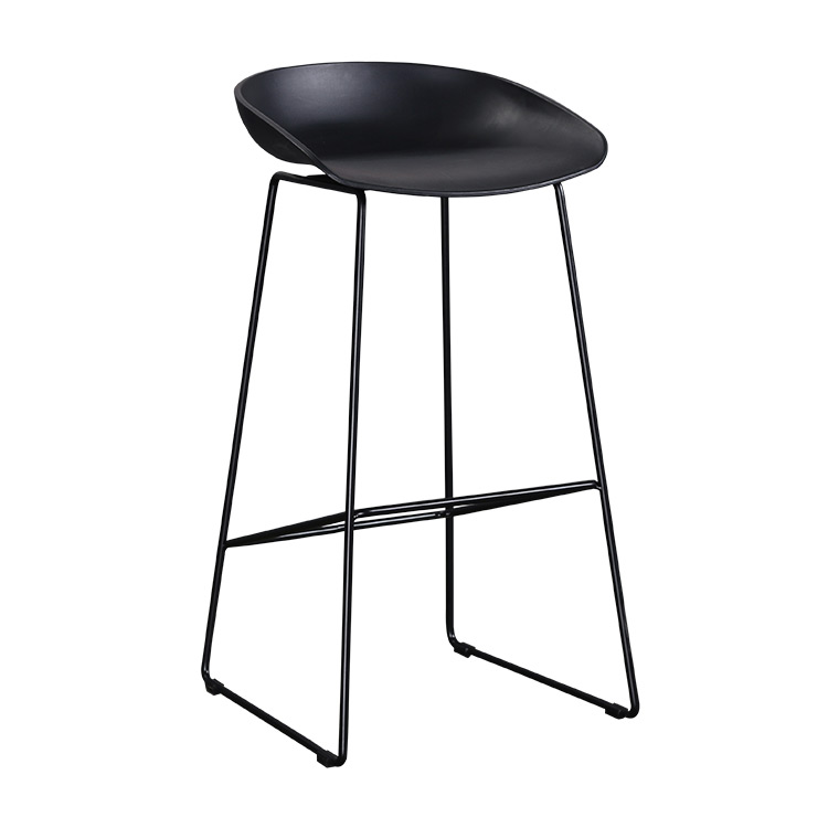 Nordic Denmark Minimalist Designer Bar Chair Iron Feet Modern Creative High Stool Front Desk Bar Stool Bar Chair