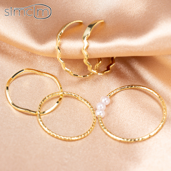 Knuckle Ring Set Combination Vintage Gold Color Sweet Dating Adjustable Rings for Women Femal Finger Jewelry Simple Fashion Gift 1