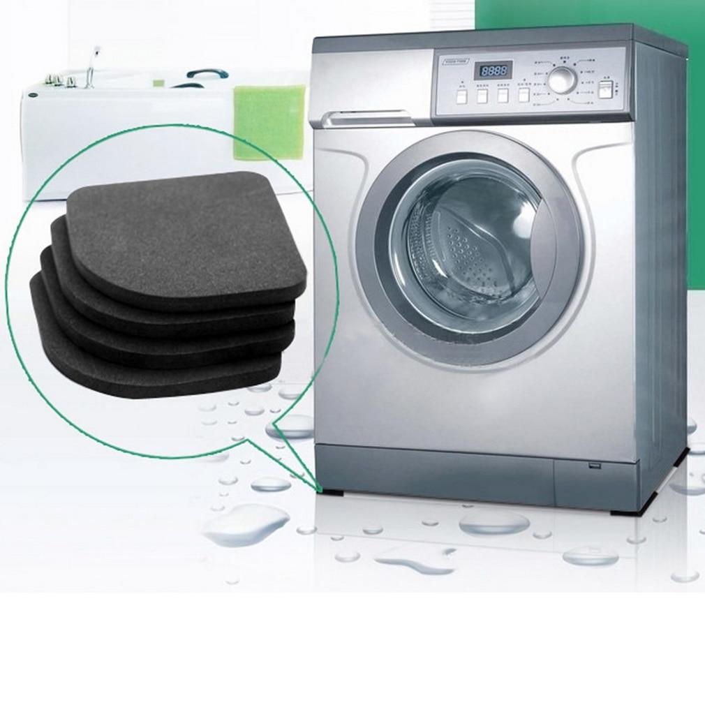 4Pcs Black EVA Washing Machine Shock Mat Pads Refrigerator Shock Mute Pad Refrigerator Anti-vibration Noise Pad Non-slip Mats