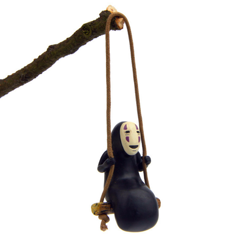 Spirited Away No Face Man Figure Keychains Car Bag Pendant Keyring Fashion Jewelry Accessories