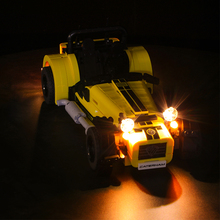 LED light Compatible for 21307 CATERHAM SEVEN 620R Race Car Building Blocks Bricks Toys for Kids Gifts only light yile 006 caterham seven 620r building blocks model compatible 21307 racing car toys for children