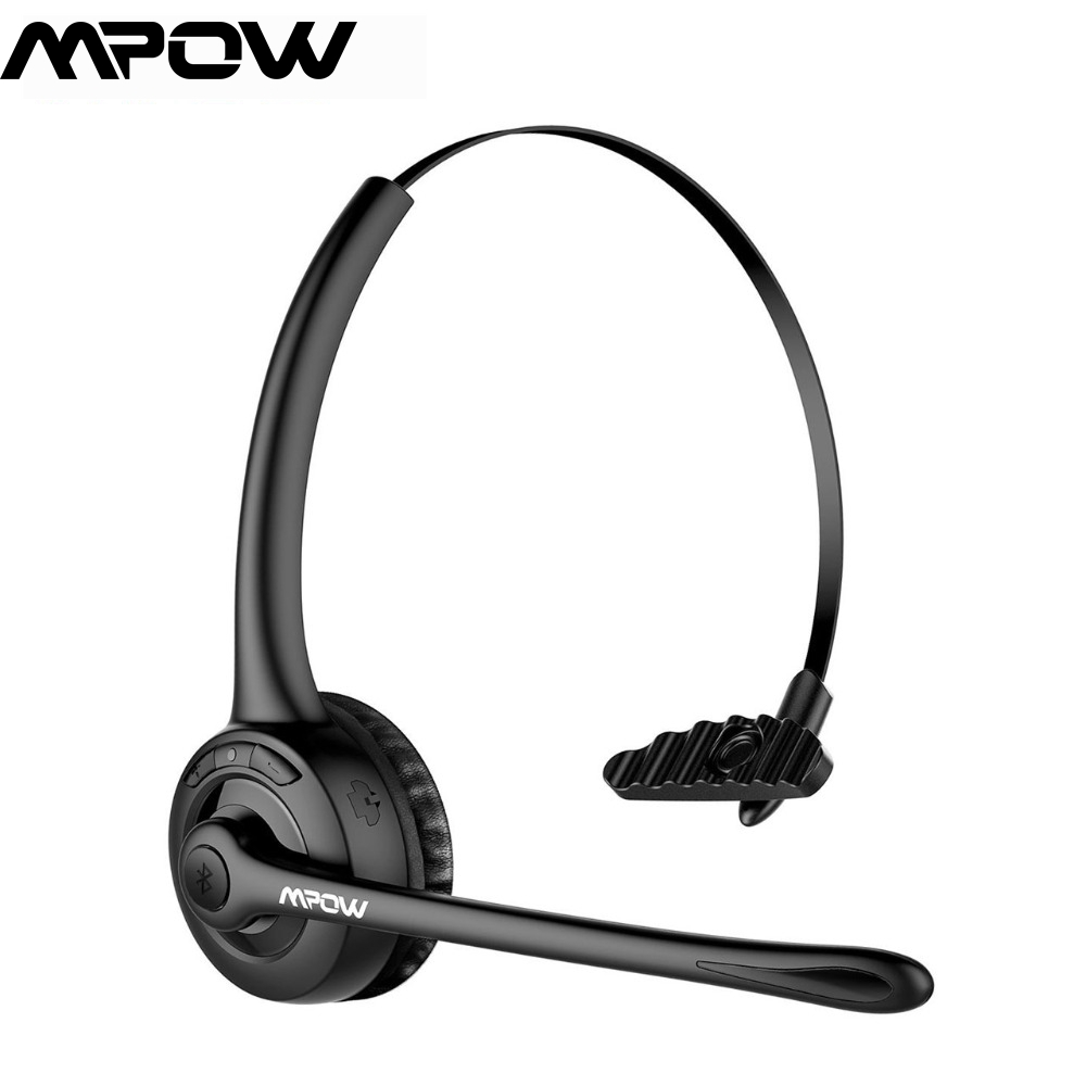 Mpow Professional Bluetooth Headset Wireless Hands Free Headphone Black Headband With Mic For Bluetooth Devices For Office Work Bluetooth Headphone Bluetooth Headsetbluetooth Headset Wireless Aliexpress