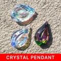 Hanging 62mm Crystal Prism Suncatcher for Windows Decoration AB-Color Chandelier Parts DIY Home Wedding Decor Accessories