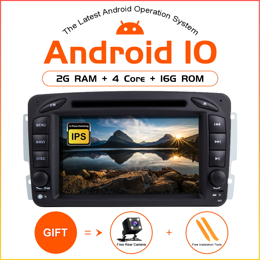 ZLTOOPAI Android 10 Car Multimedia Player Car Radio GPS For Mercedes Benz CLK W209 Vito W639 Viano Vito <font><b>2</b></font> <font><b>Din</b></font> DVD Player SWC IPS image