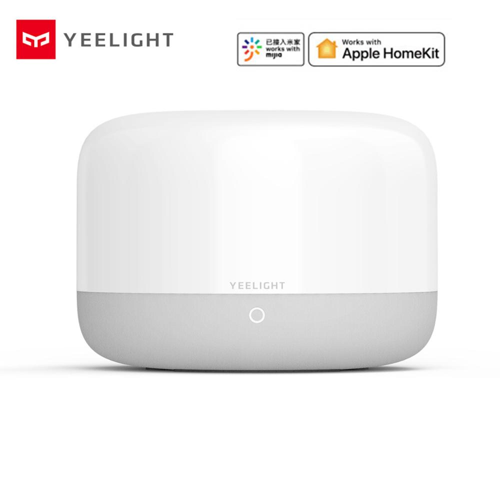 Xiaomi mijia Yeelight YLCT01YL Colorful LED Smart Mi Bedside Lamp  Intelligent Dimmable Night Light APP Control work with HomeKitSmart  Remote Control