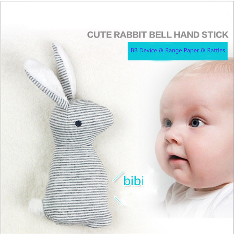 Baby Rattle Toys Animal Cute Rabbit Hand Bells Plush With BB Sound Gift Christmas Doll  Baby Handbells Toy 13-24 Months