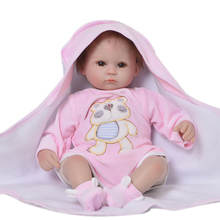 mini size Reborn Baby dolls Bebe Non-toxic cotton padding body Silicone 42cm Lifelike Smile simulation girl doll children gift T