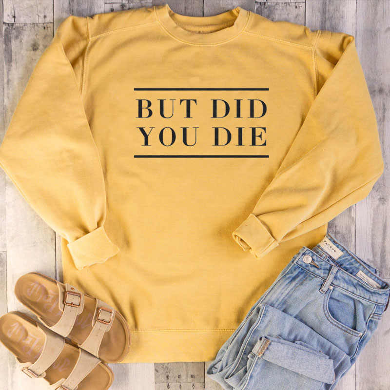 여성 캐주얼 하라주쿠 고스 펑크 스타일 카와이 슬로건 여성 그런지 탑하지만 당신은 죽을 편지 인쇄 된 셔츠