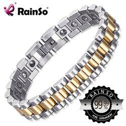 RainSo 99.999% Pure Germanium Bracelet for Women Korea Popular Stainless Steel Health Magnetic Germanium Energy Power Jewelry