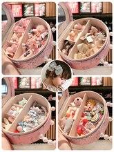 27 unids/set corona Linda lazo de conejo adorno para el cabello Clips niñas colores bonitos horquillas pasadores niños dulces accesorios para el cabello