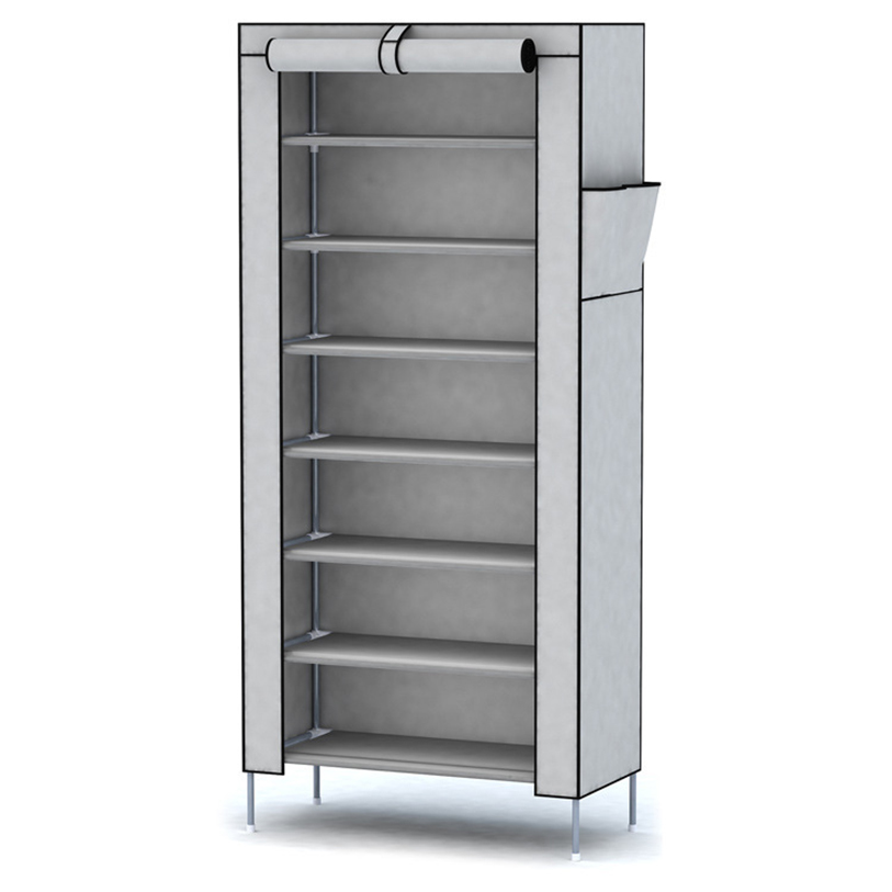 8-Layer 7-Shelf Dustproof Shoe Rack Closing Door Shoe Storage Organizer Space-Saving Shelf Cabinet Home Furniture Keep Room Neat