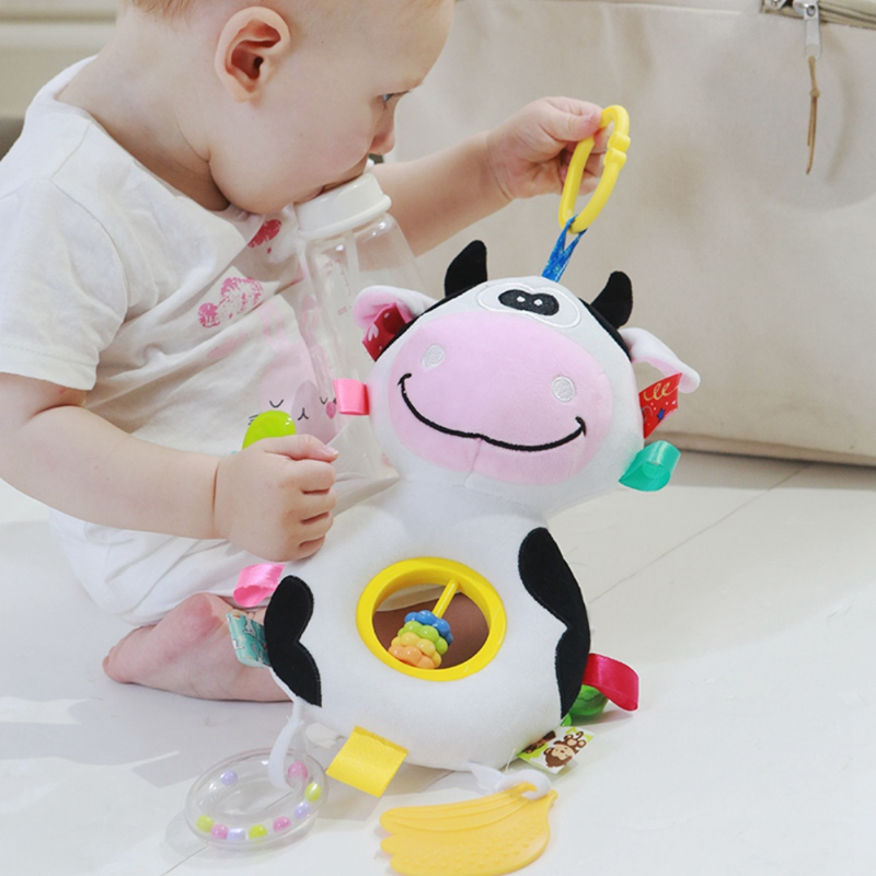 3 Colors Infant Toys Mobile Baby Animal Fish Plush Toy Bed Rattles Crib Stroller Hanging Bells Toys