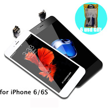 [6 USD GIFT] for iPhone 6 6S LCD Screen Replacement for Apple iPhone6 for iPhone6S Black White on the 6 6S with Repair Tool все цены