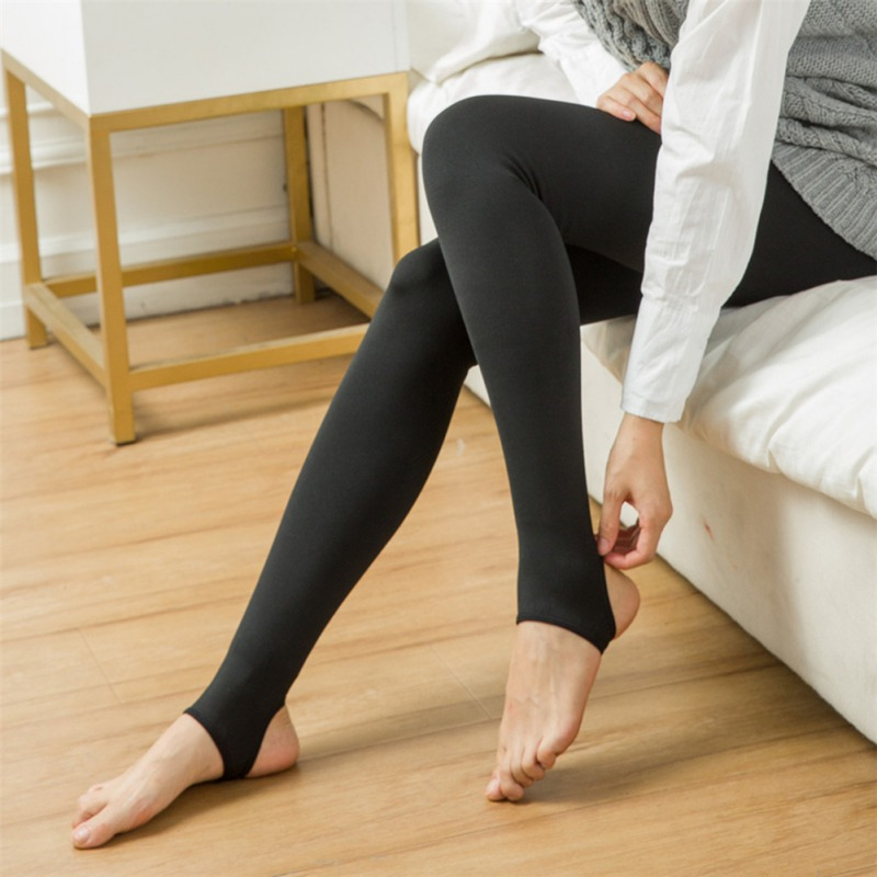 Skinny Slim Female Leggings Women Winter Warm Leggings Heat Fleece Stretchy Warm Pants