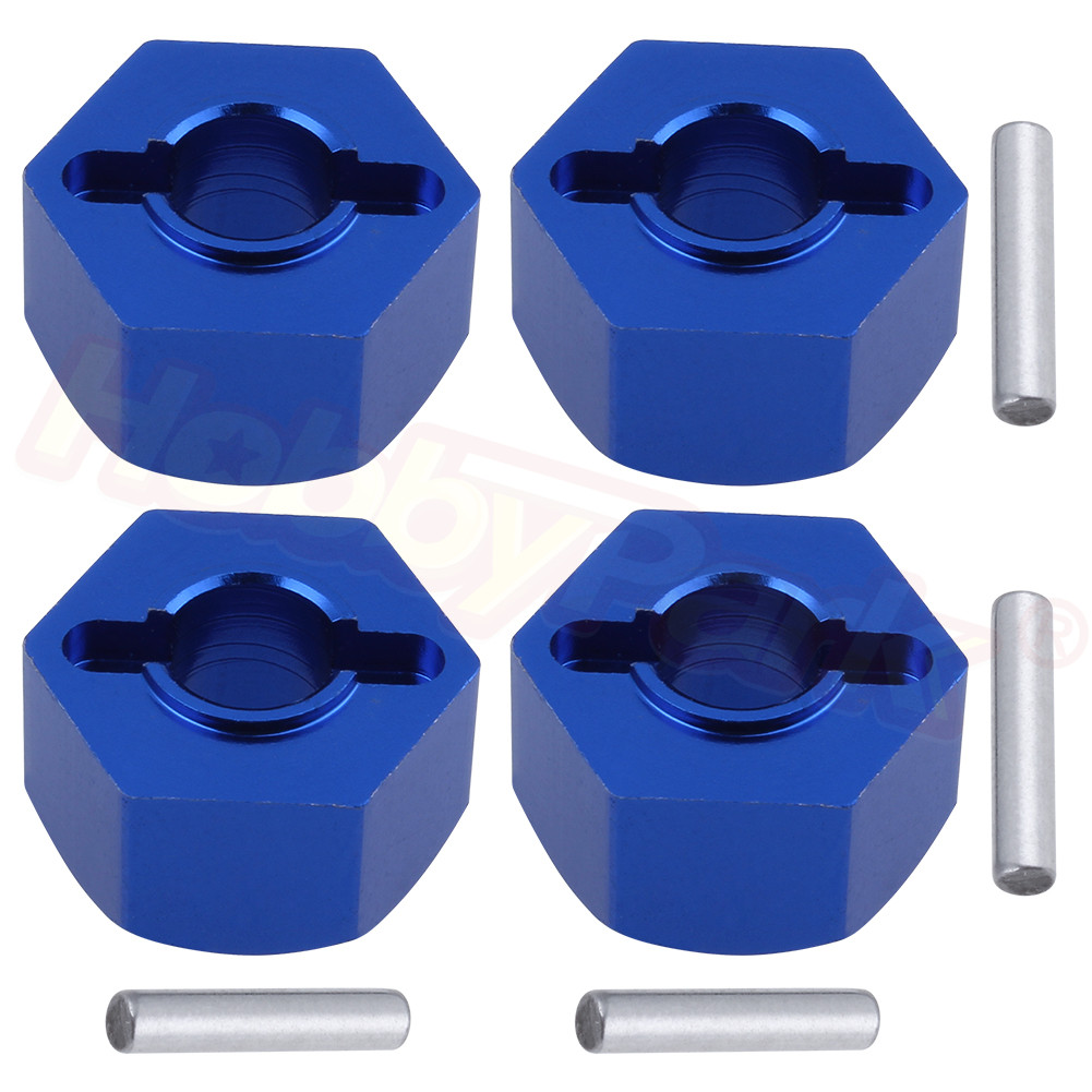 4pcs/Lot For RC 1/10 Traxxas Traxxas Slash 4x4 Upgrade Parts Aluminum Wheel Hex Mount 12mm Thickness 7mm